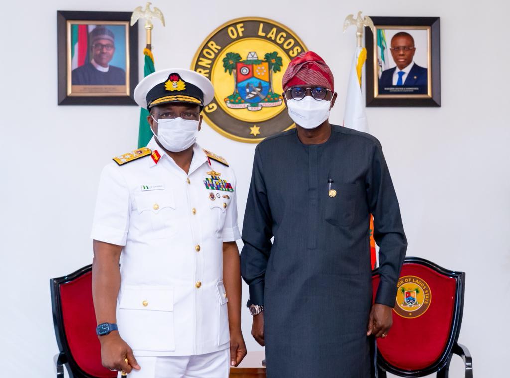 SANWO-OLU TASKS NIGERIAN NAVY, OTHERS ON INTERNAL, EXTERNAL SECURITY
